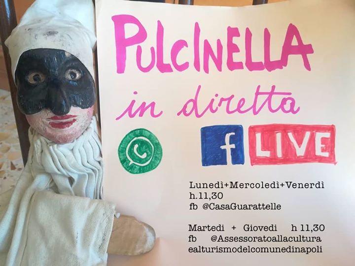 la videochiamata con Pulcinella