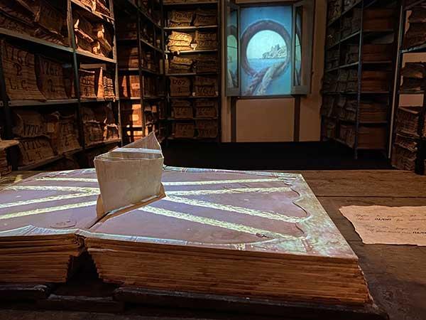 Cartastorie museo archivio banco di Napoli ologrammi