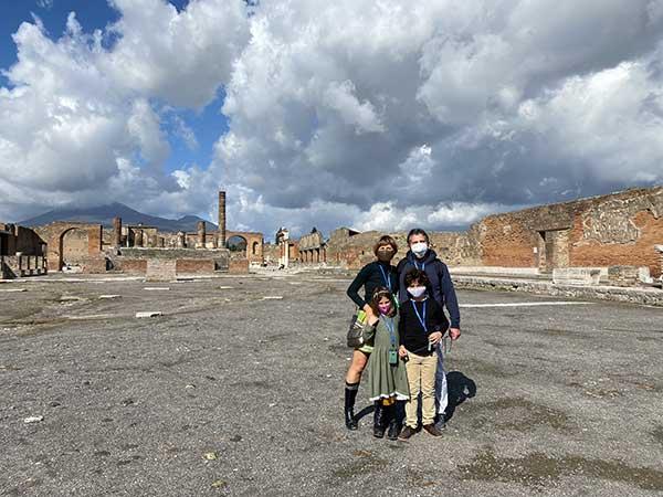 famiglia a Pompei