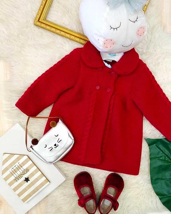 cappottino bimba rosso