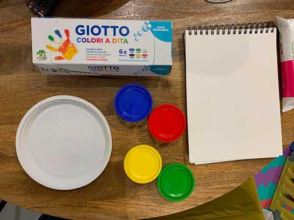 giotto colori a Dita