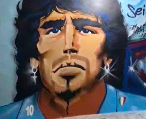 murale Maradona Rione Sanità