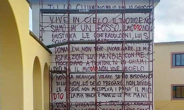 Scritta murale maradona a Quarto