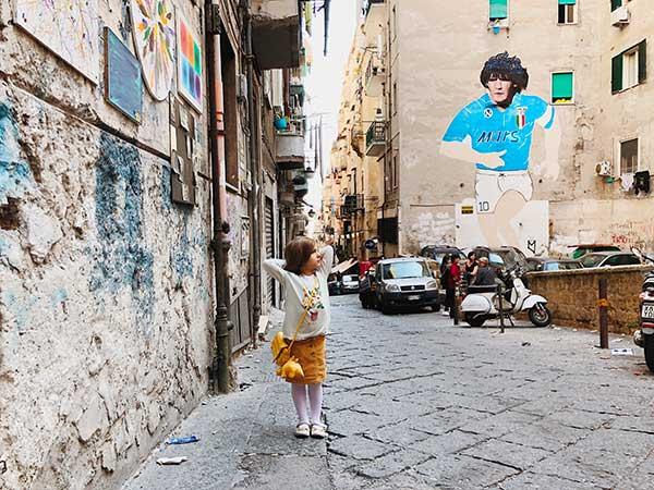 Tour dei murales di Maradona a Napoli