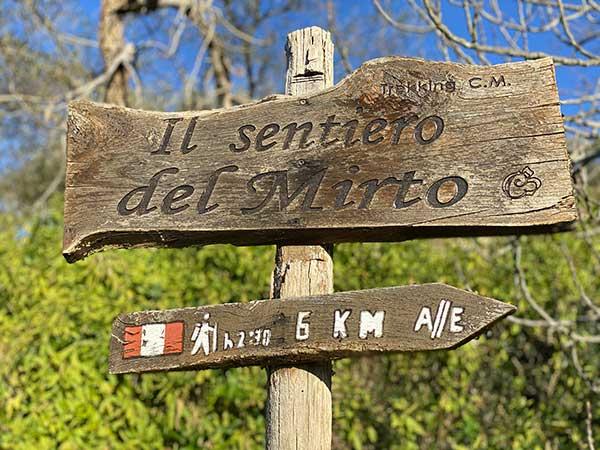 sentiero mirto cartello