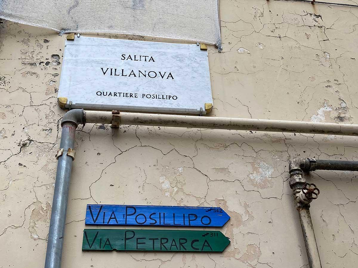 Salita Portanova cartelli trekking