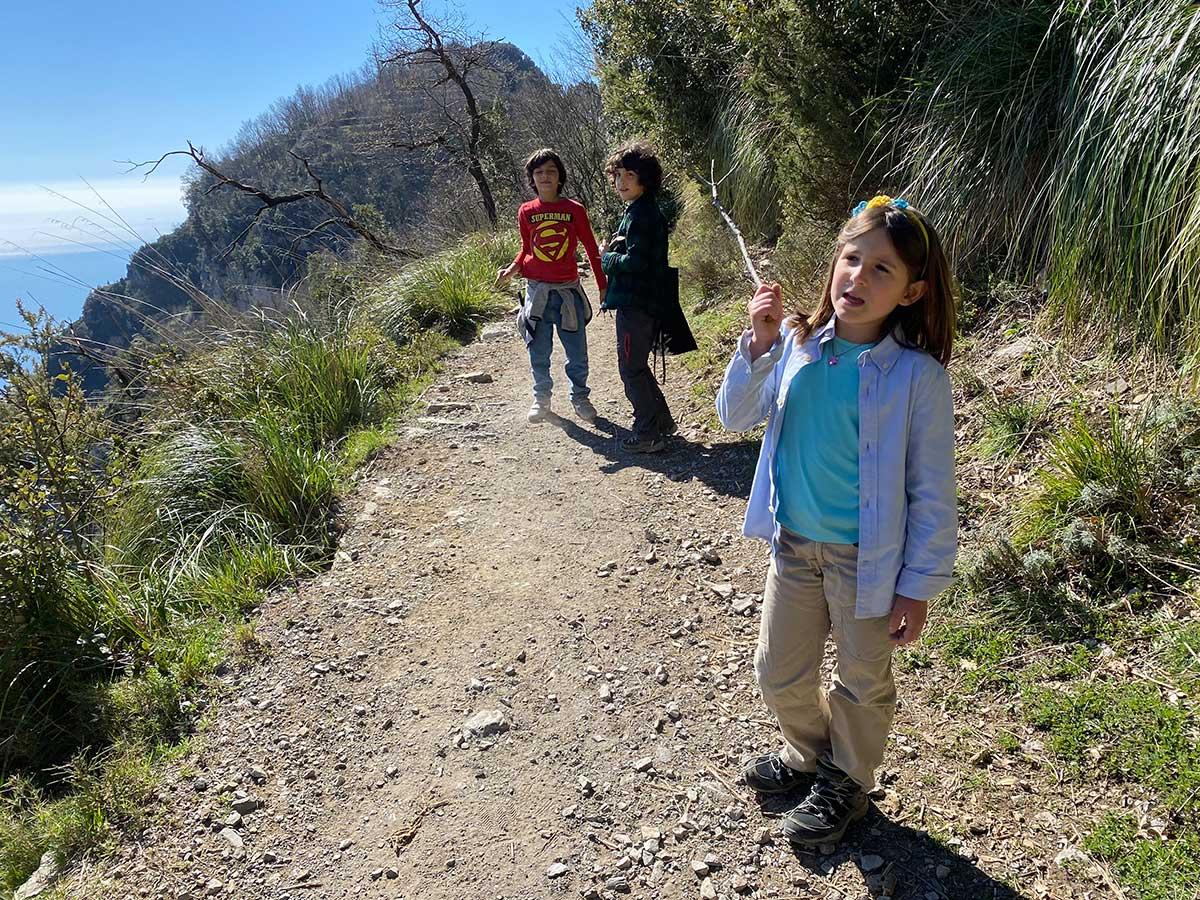 Sentiero degli Dei con i bambini