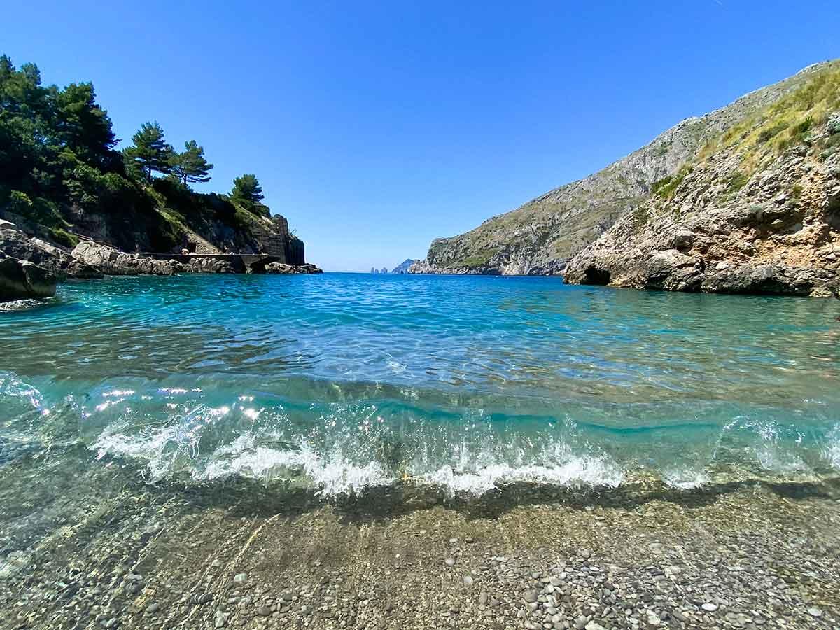 Baia ieranto spiaggia